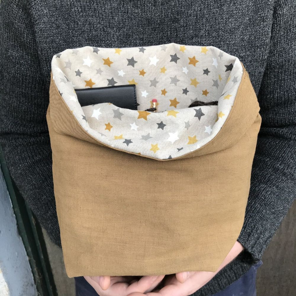 The Ochils Bag - Toffee/Gold Stars